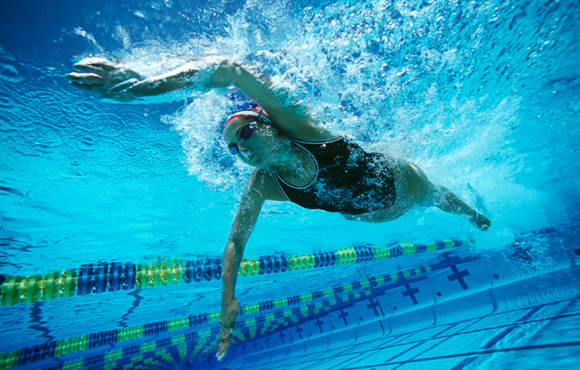 An underwater view can reveal many things to help a swimmer improve.